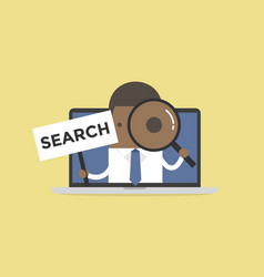 african businessman holding search sign vector image