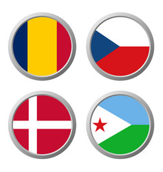 All flags world icon vector