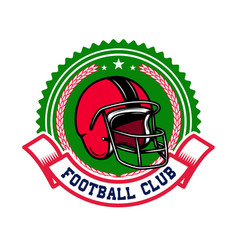 American football emblem template design element vector