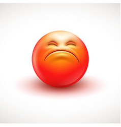 angry smiling emoticon emoji vector image