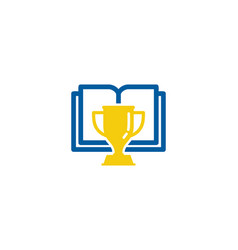 award book logo icon design vector image