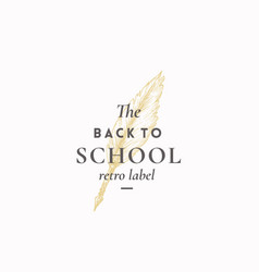 back to school abstract sign symbol or vector image