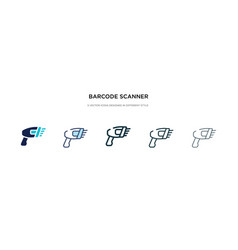 Barcode scanner icon in different style two vector