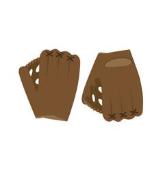 baseball glove ball isolated vector image