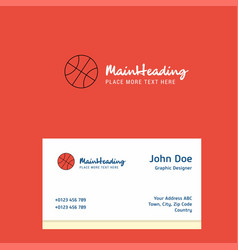 basket ball logo design with business card vector image