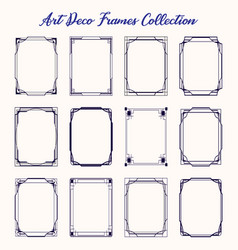 black art deco borders and frames isolated vector image