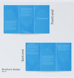 blue brochure template design layout brochures vector image