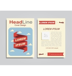 Brochure design layout with place for your data vector image