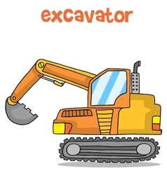 Cartoon of excavator design art vector image