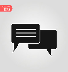 chat icon in trendy flat style isolated on grey vector image