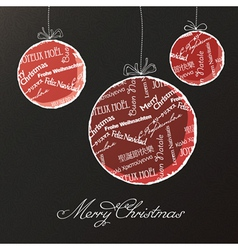 christmas balls background vector image