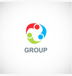 circle group colorful logo vector image