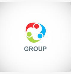 Circle group colorful logo vector
