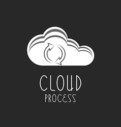 Cloud icon arrows sign the loading process vector image