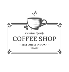 Coffee shop sign vector image