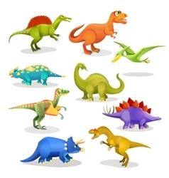 Collection of prehistoric dinosaur habitants vector image