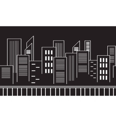 Collection stock city silhouettes vector