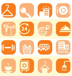 Color hotel business icons vector