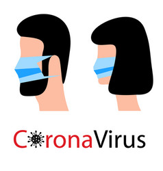 Coronavirus 2019-ncov people in medical face mask vector