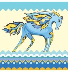 Creative Blue Horse vector
