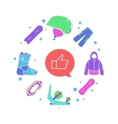 Creative winter sport infographic flat vector