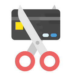 Credit card deductions vector