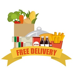 Delivery food vector