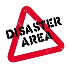 Disaster Area rubber stamp vector