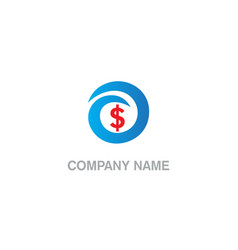 dollar sign money business company logo vector image