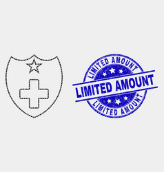 dot medical shield icon and distress vector image