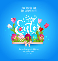 Easter holiday lettering vector