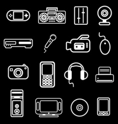electronic item icon vector image