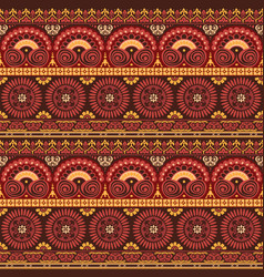 ethnic american native style wallpaper vector image