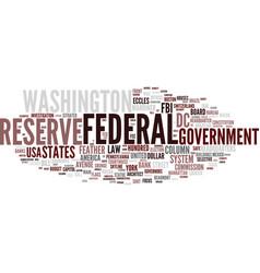 Federal word cloud concept vector