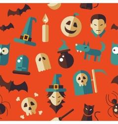 flat design Halloween pattern vector image