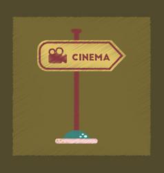 flat shading style icon cinema sign vector image