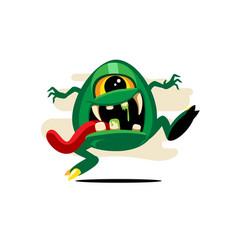 funny cyclop monster vector image