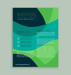 green and blue brochure flyer design vector image