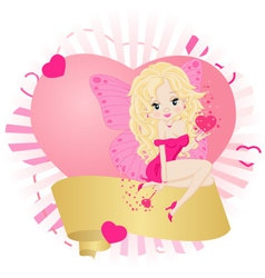greeting card with a fairy vector image