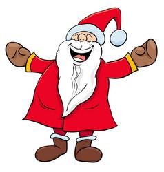 Happy santa claus christmas character vector