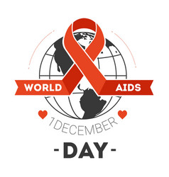 healthcare world aids day immune system disease vector image