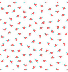 heart with wings seamless pattern with simbol of vector image