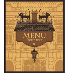 House menu vector