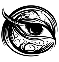 human eye stylized ink sketch vector image