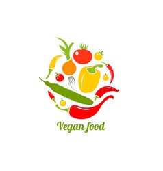 icon of vegetables logo design template vector image