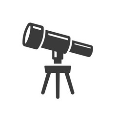 icon telescope science on white background vector image