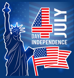 Independence day 4 july poster design template vector