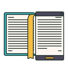 Isolated ebook and technology design vector image