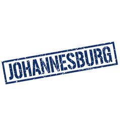 Johannesburg blue square stamp vector