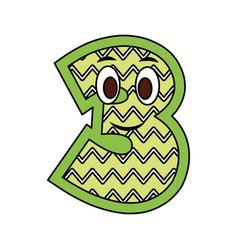 kawaii number character cartoon comic design image vector image